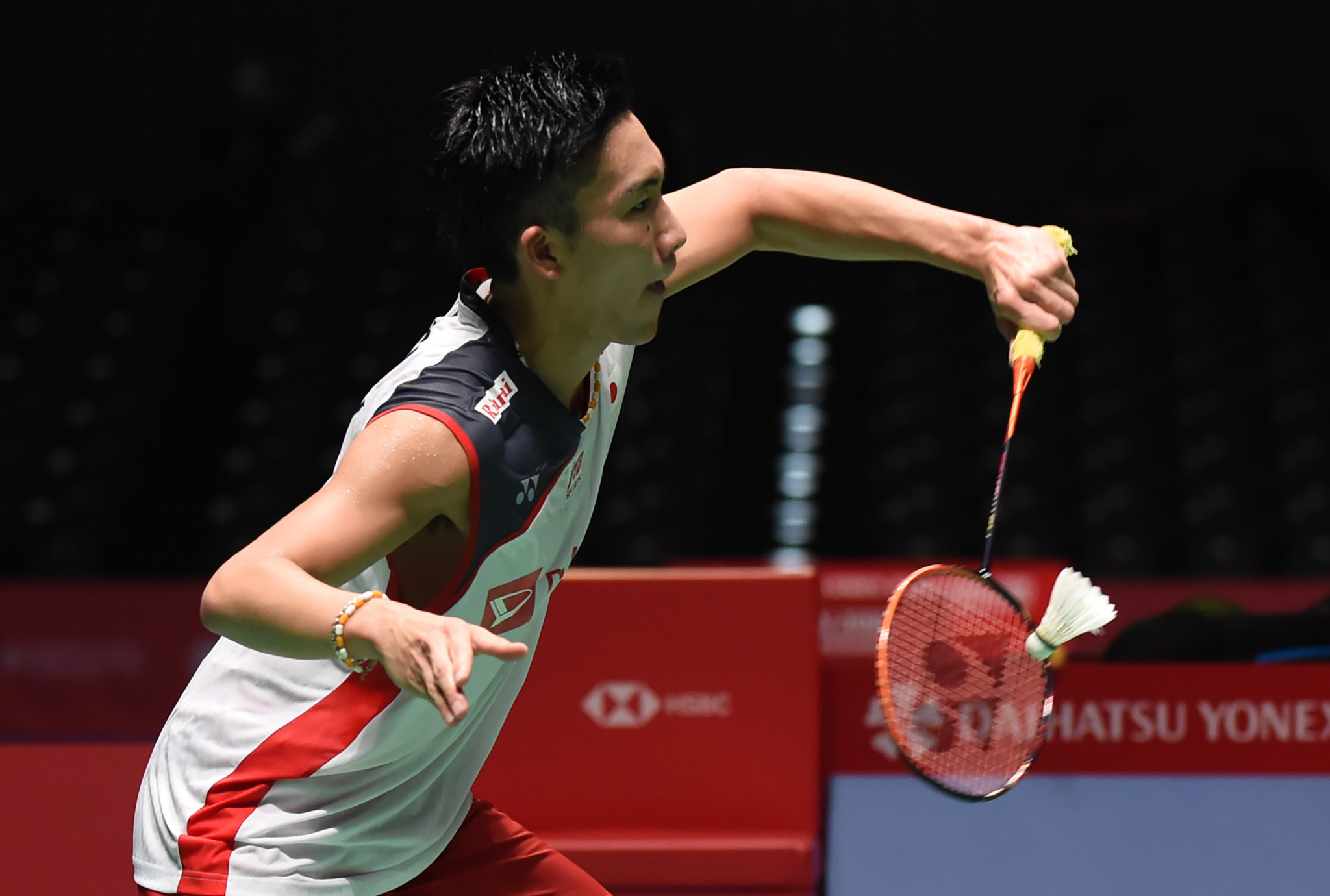 Japan's reigning world champion Kento Momota comfortably progressed to round two ©Getty Images
