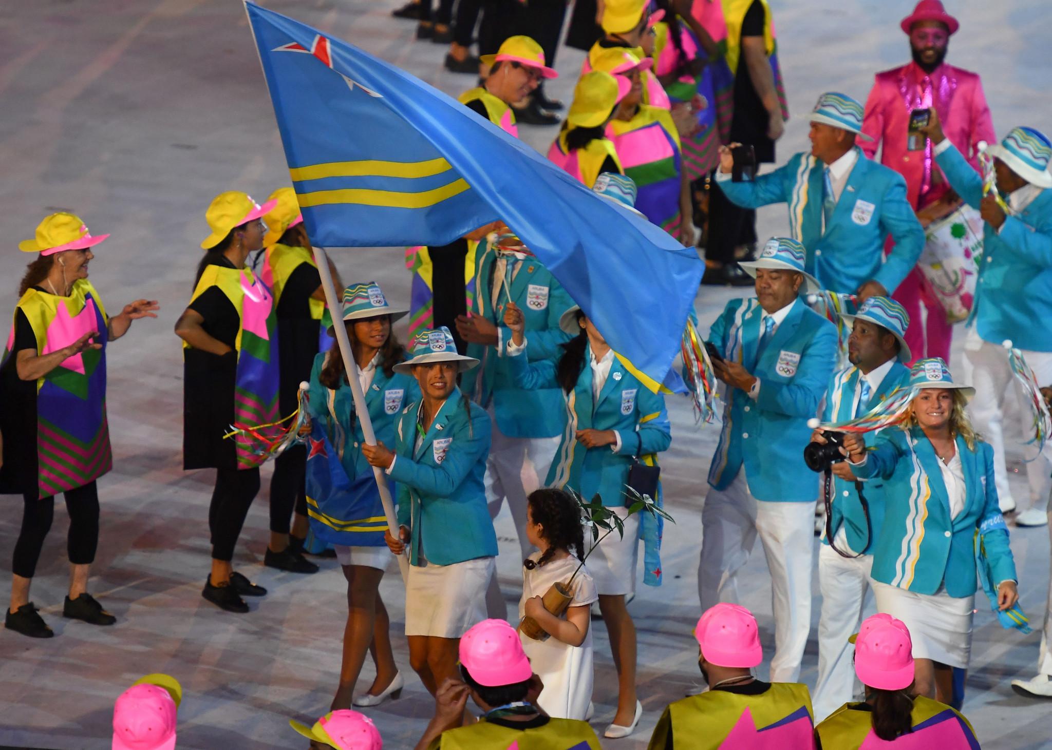 Nicole van der Velden was Aruba's flagbearer at  Rio 2016 ©Getty Images