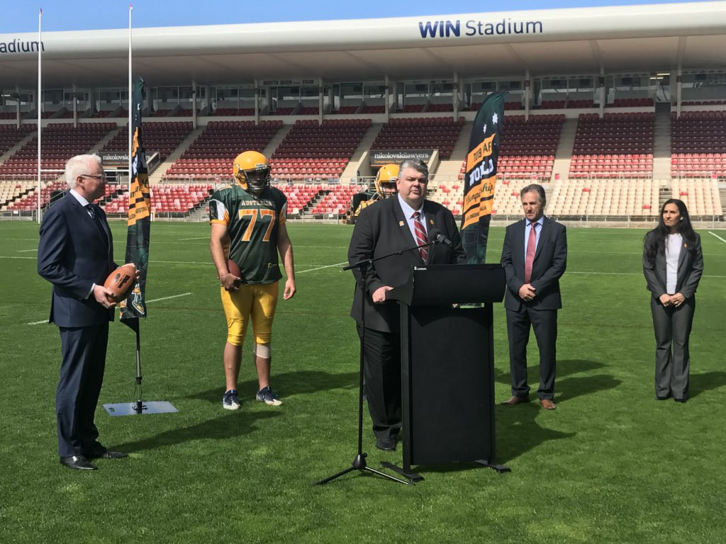 Wollongong to host 2019 IFAF Men's World Championships