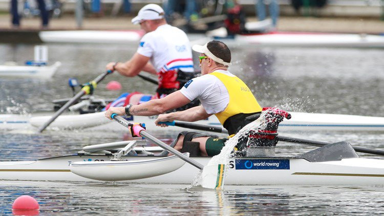 Horrie clocks world leading time to qualify for Para single sculls semi-finals at World Rowing Championships