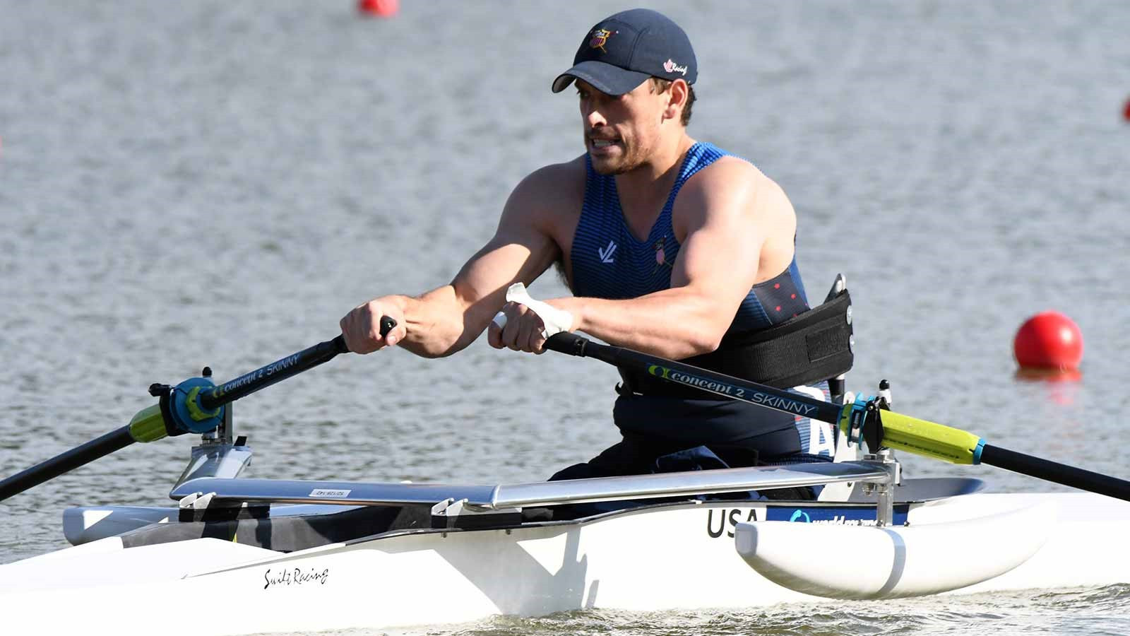American Blake Haxton was among the other qualifiers today ©US Rowing