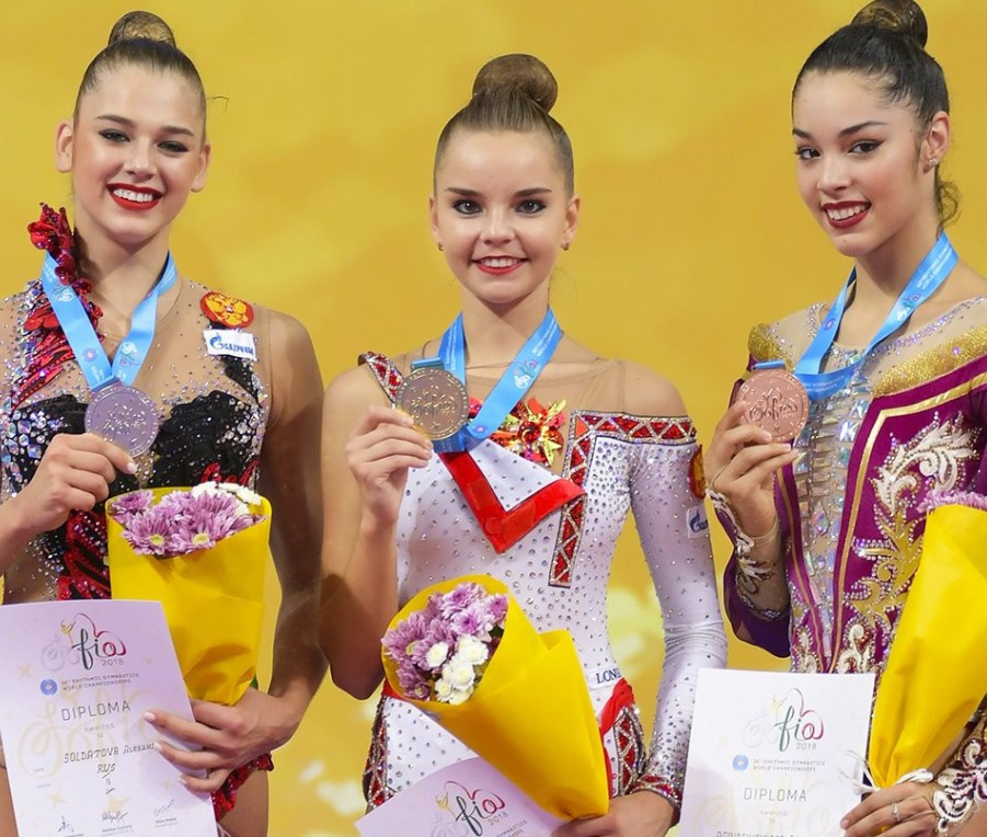 Double gold for Dina Averina at FIG Rhythmic Gymnastics World Championships