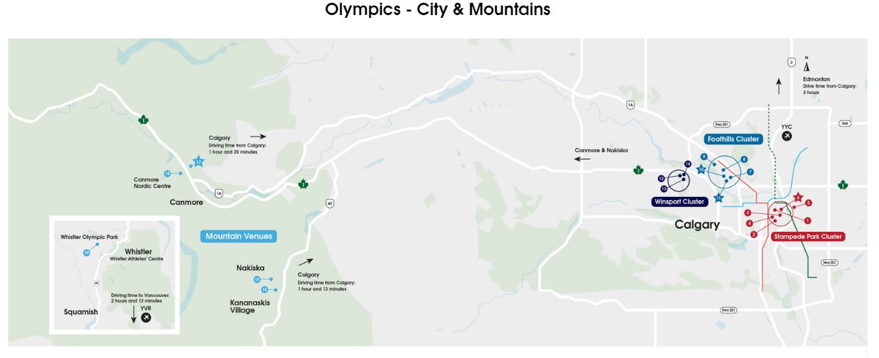 Calgary 2026 have published a detailed venue plan for the Winter Olympic and Paralympic Games ©Calgary 2026