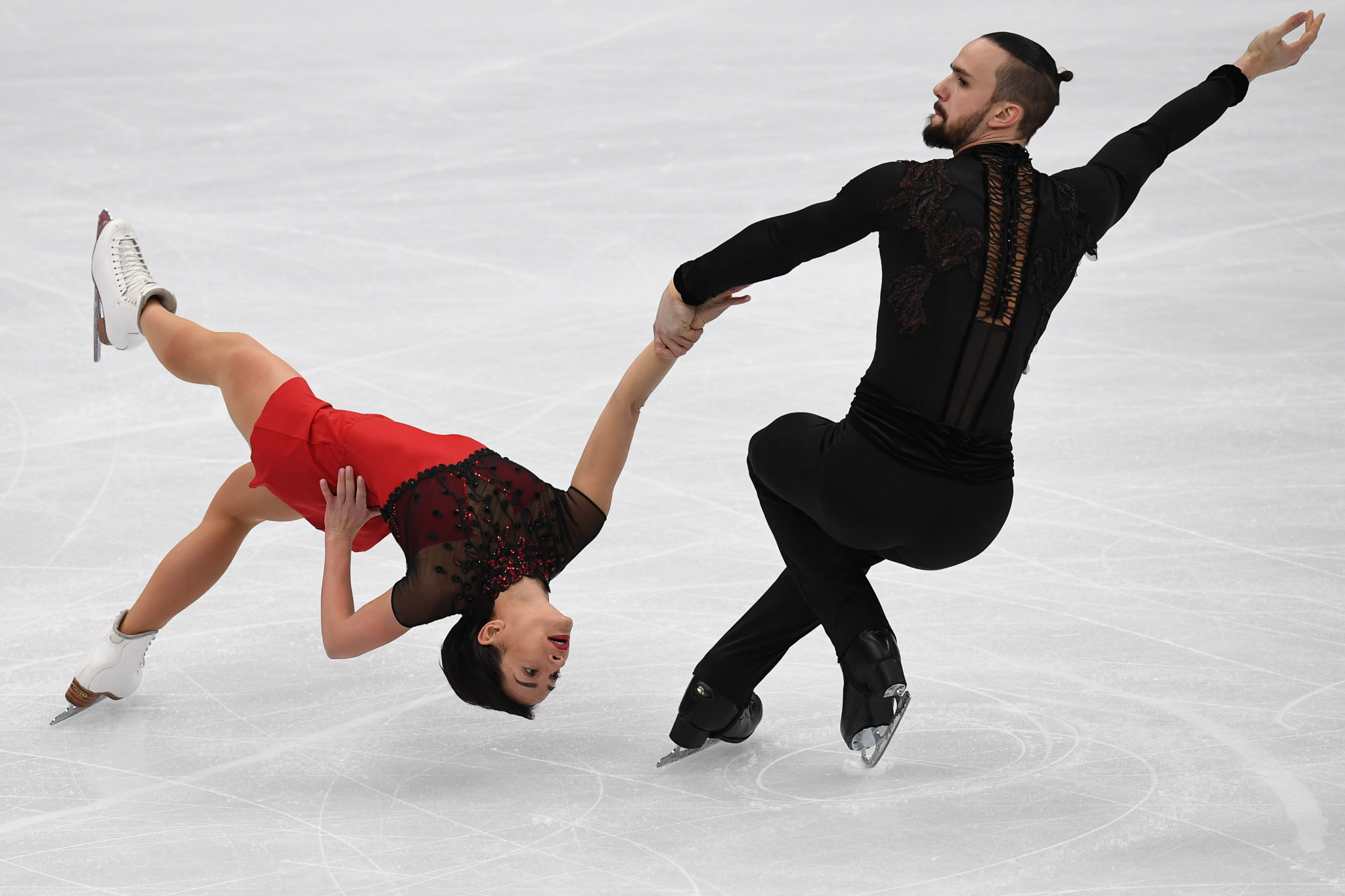 Ksenia Stolbova and Fedor Klimov were unable to compete at the Pyeongchang 2018 Winter Olympics ©Getty Images