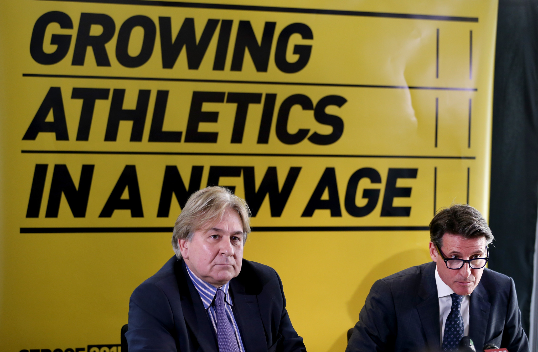 Mike Lee, left, and Sebastian Coe, key players in the London 2012 bid ©Getty Images