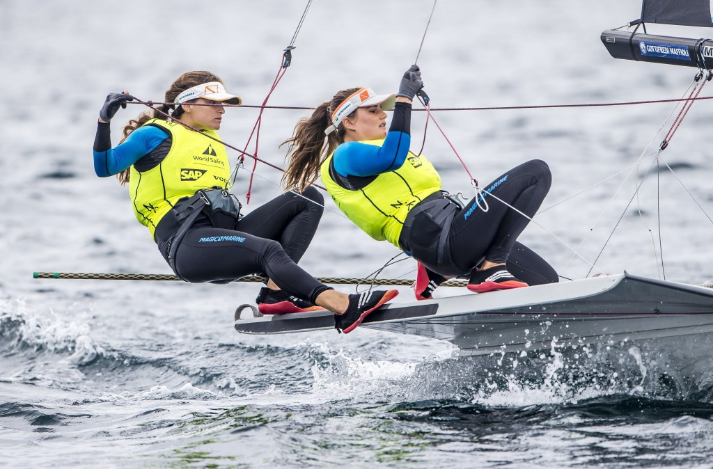 Olympic champions lead 49erFX event at World Cup series at Tokyo 2020 sailing venue