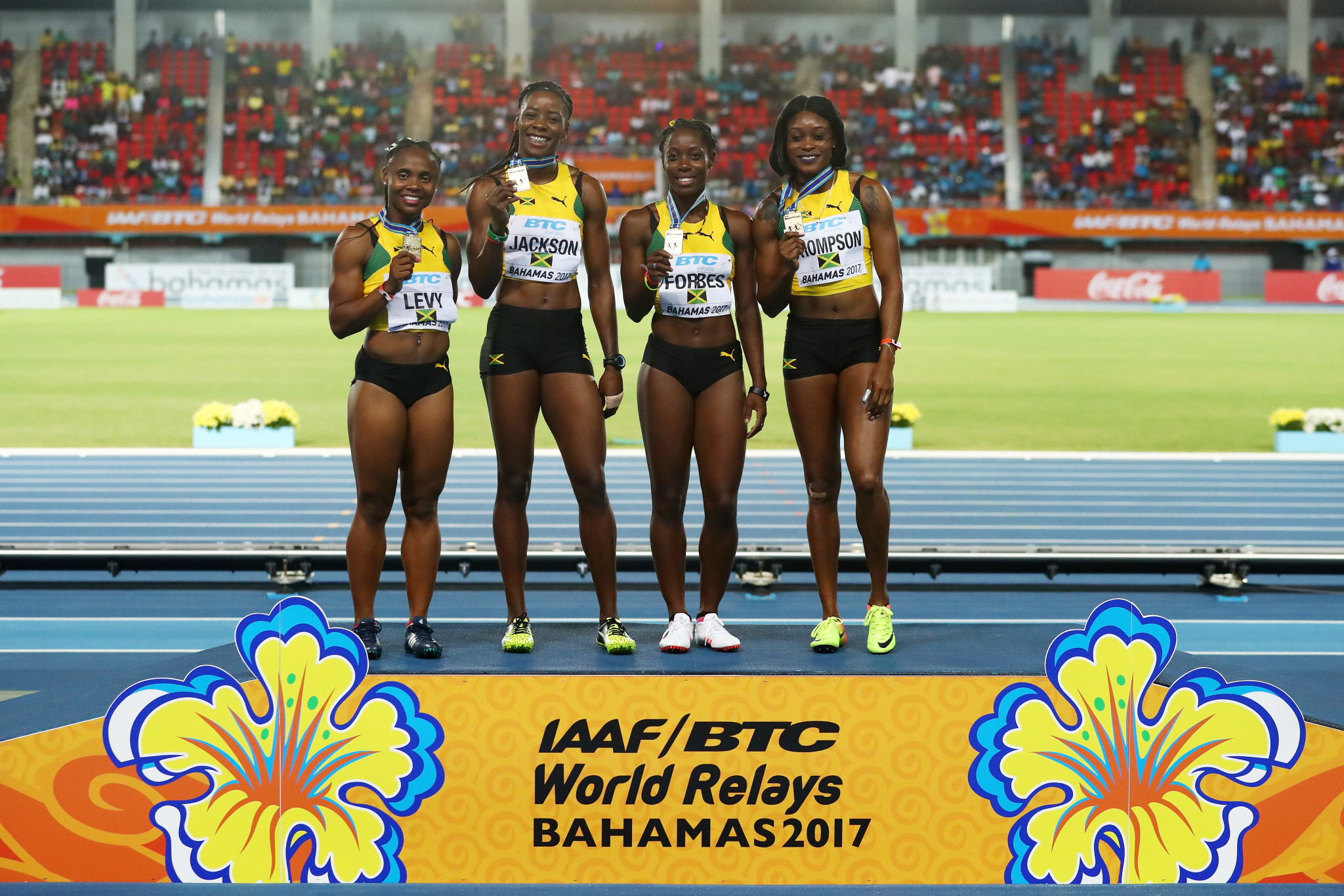 Jamaica will not step in to host the IAAF World Relays next year ©Getty Images