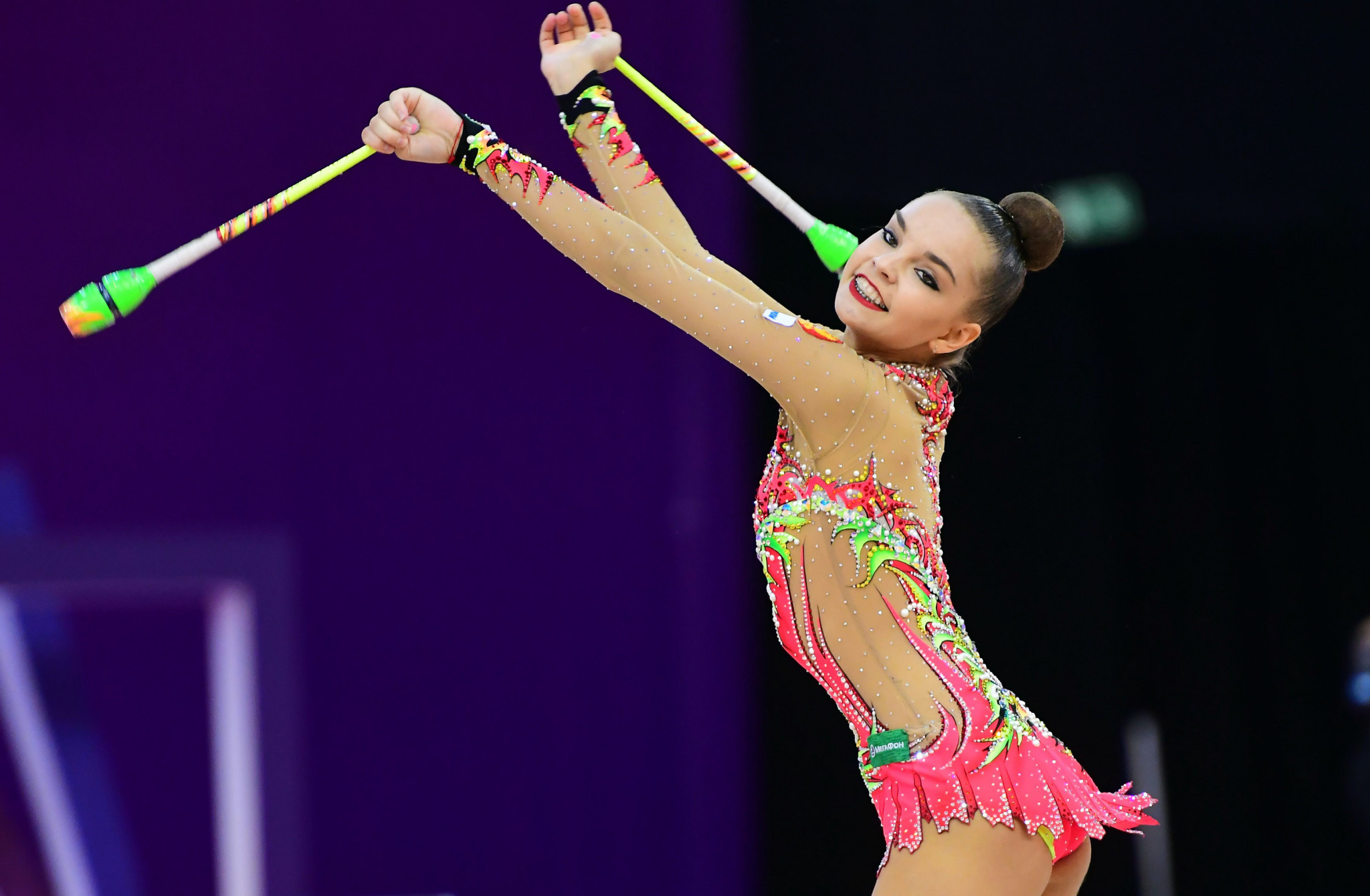 Dina Averina topped the clubs qualifying with the finals taking place tomorrow evening ©Getty Images