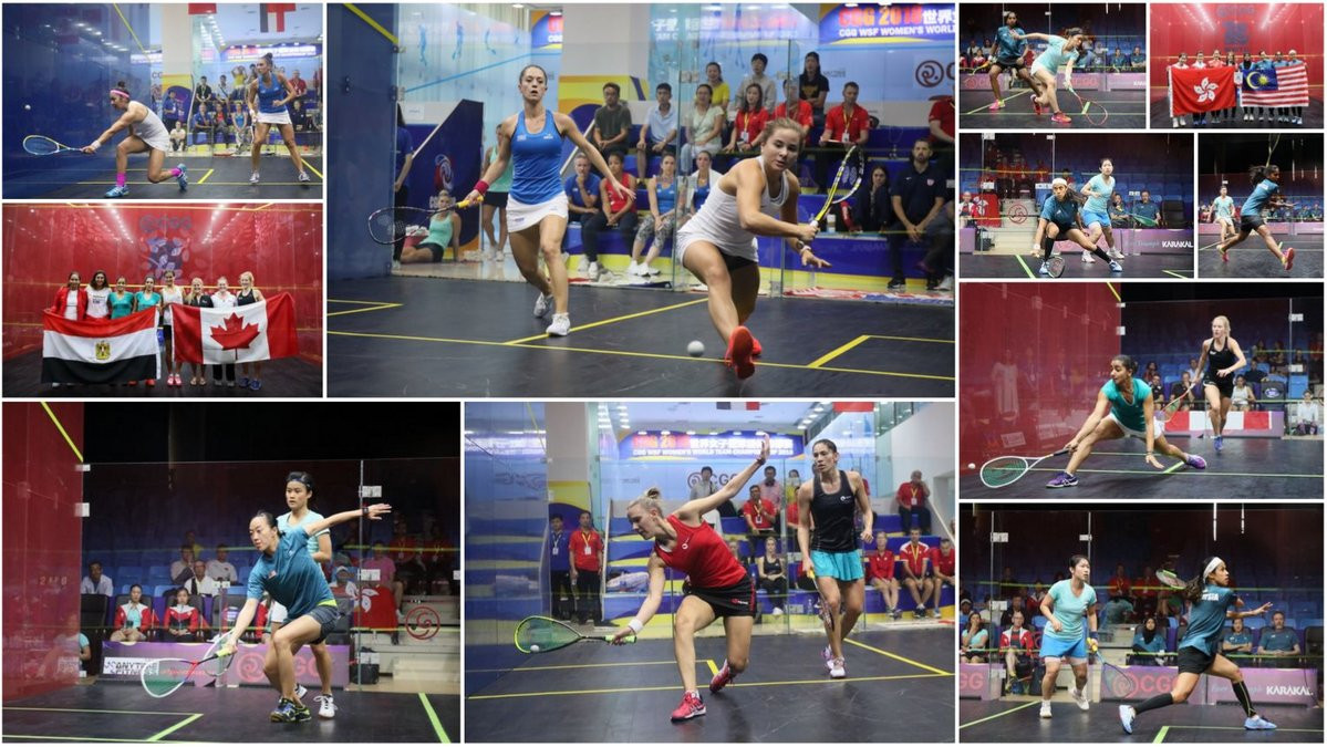 The Women's World Team Championship quarter finals get underway tomorrow ©WWTsquash/Twitter