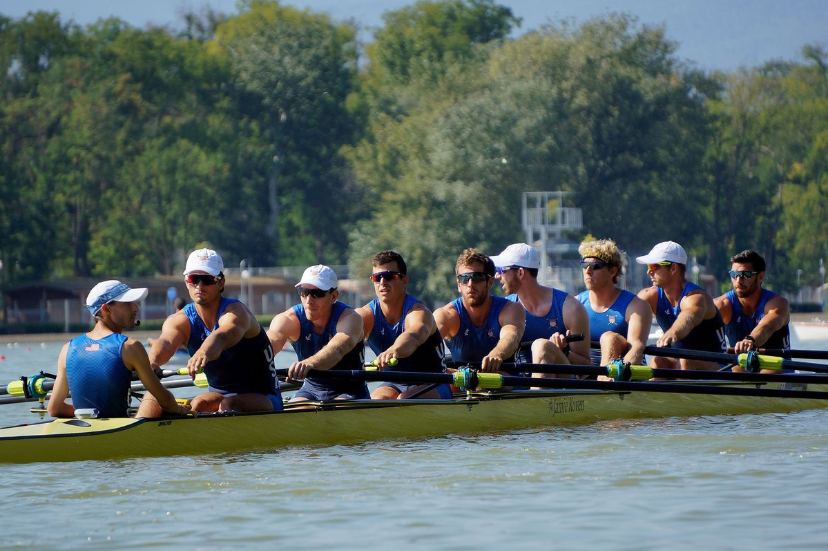 Men's and women's eight competition was the focus in Bulgaria today ©World Rowing