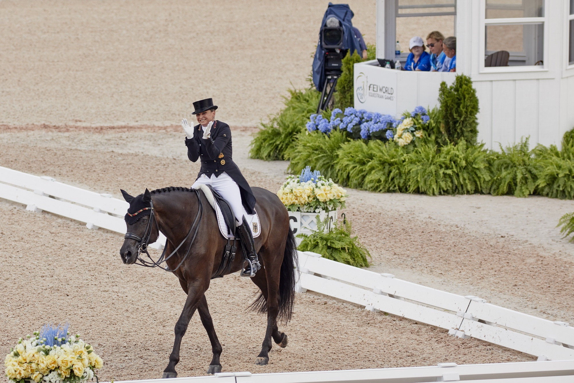 Germany enjoyed a strong start to the team dressage competition ©FEI