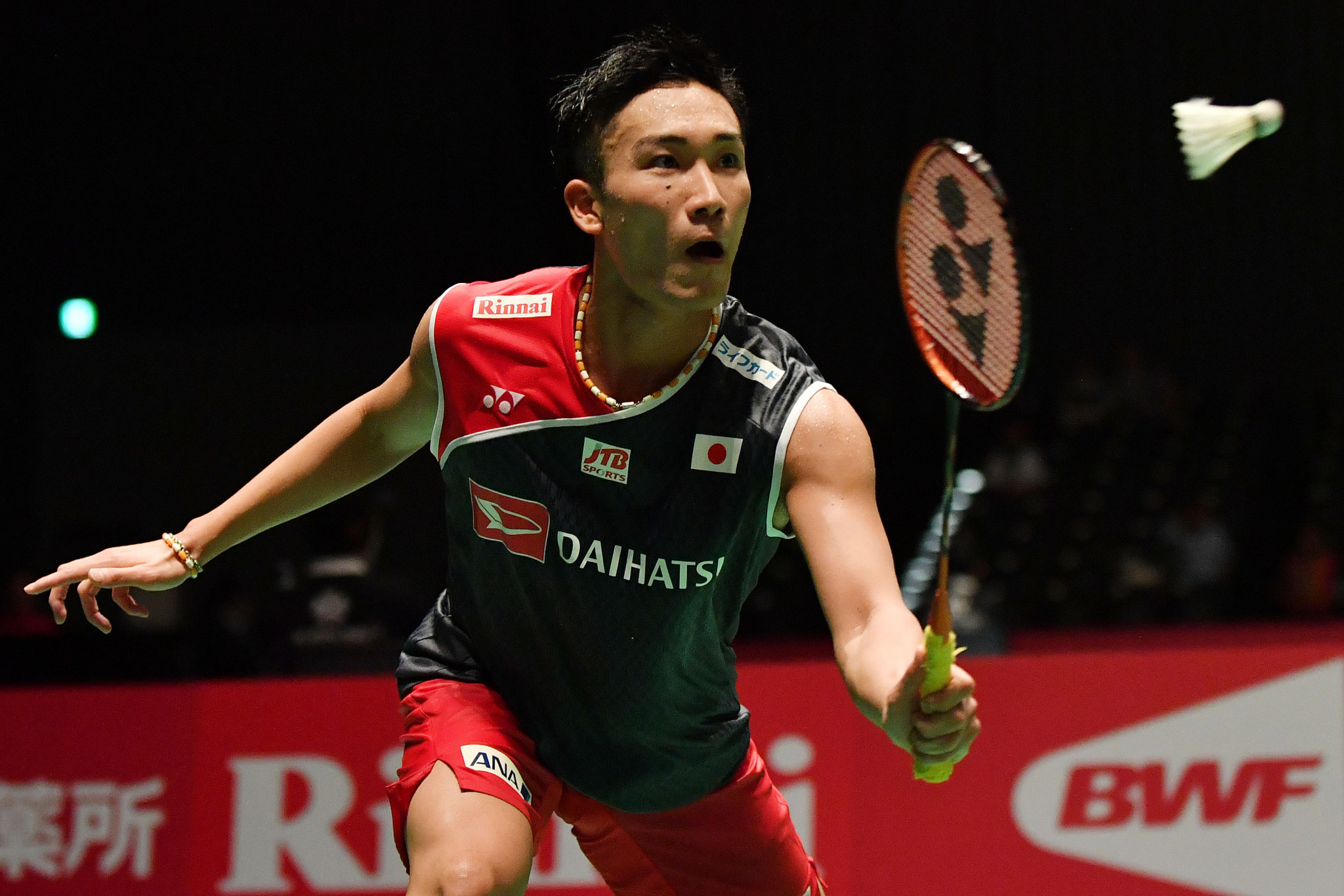 Reigning world champion Kento Momota set up a mouthwatering quarter final with double Olympic gold medallist Lin Dan ©Getty Images