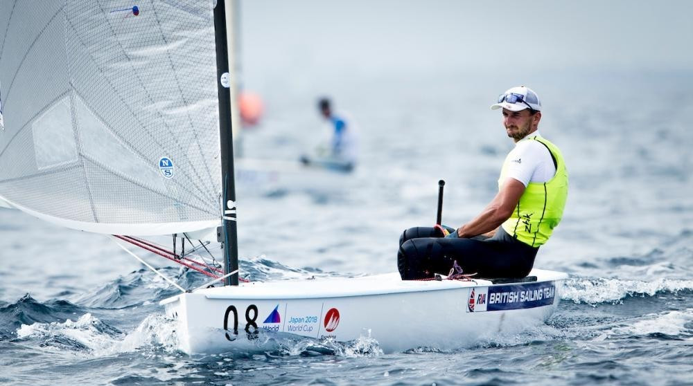 Action continued at the Tokyo 2020 venue today ©World Sailing