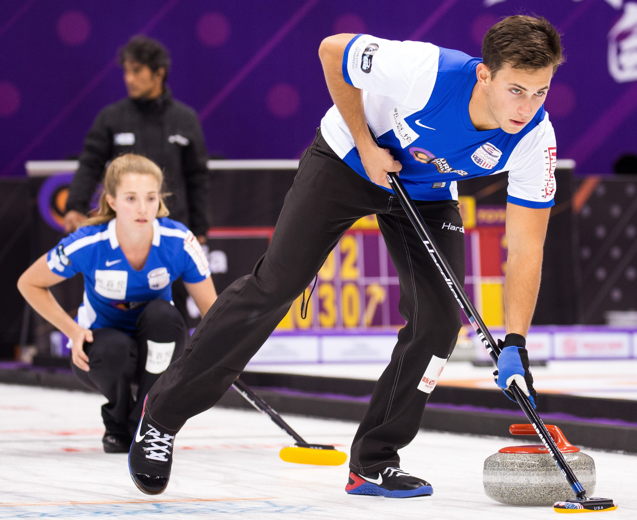 Sarah Anderson and Korey Dropkin of the US are undefeated in the mixed doubles ©WCF