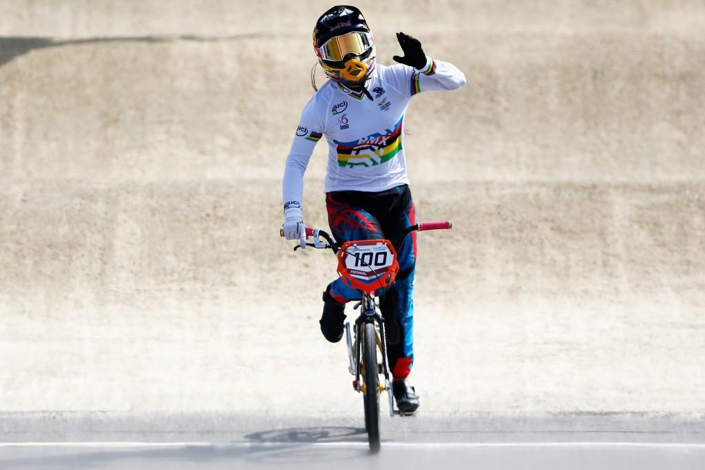 Reigning world champion Mariana Pajon secured the women's title