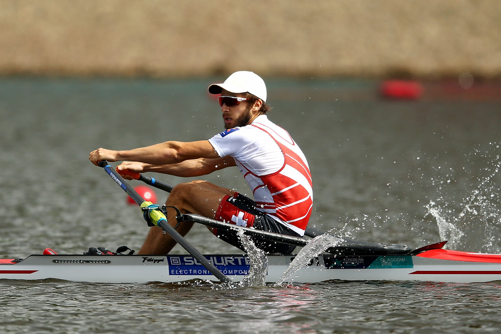 Michael Schmid secured a place in the men's lightweight rowing finals ©Getty Images