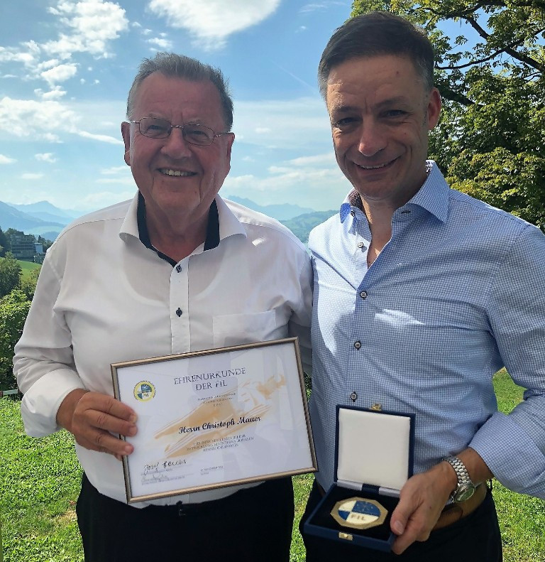 Infront director awarded International Luge Federation medal of honour