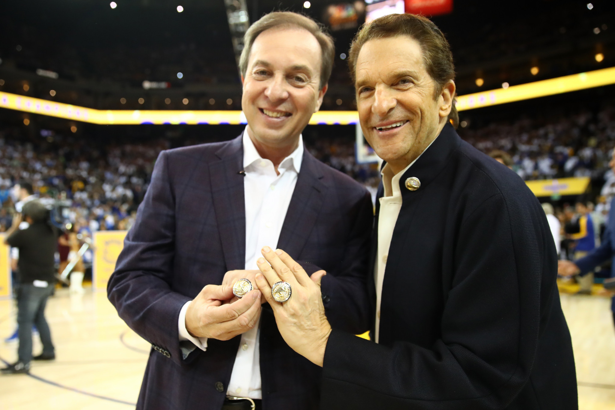 Peter Guber, right, has been named as one of two new independent directors at the FIL ©Getty Images