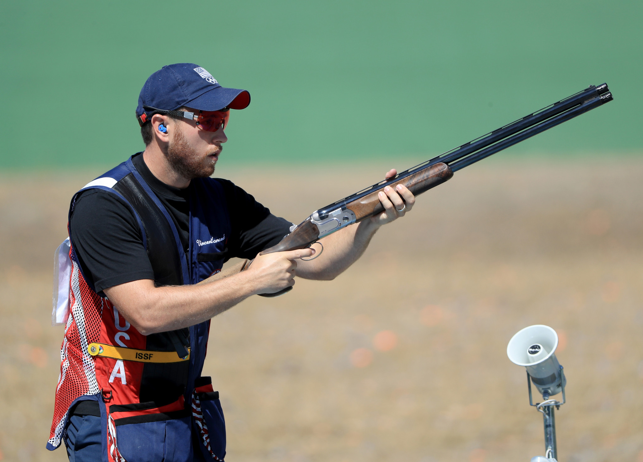 Vincent Hancock of the US equalled the world record in winning his fourth Skeet Men world title in Changwon ©ISSF