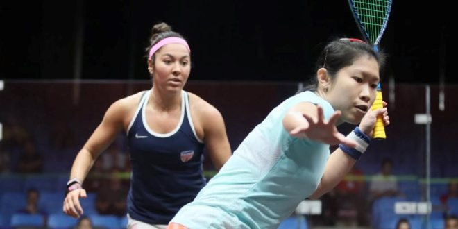 Hong Kong earned a surprise win over third-seeded United States at the WSF Women's World Team Squash Championships in Dalian, China to earn a meeting with top seeds and defending champions Egypt ©WSF