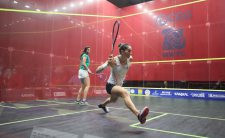 Top seeds Egypt had to come from behind to beat New Zealand in the WSF Women's World Team Squash Championships quarter-finals ©WSF