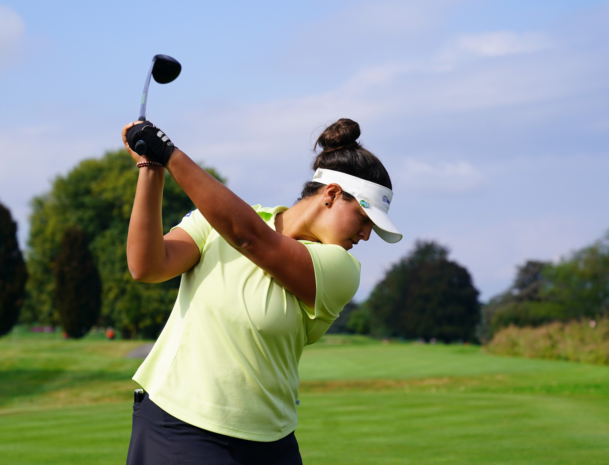Puerto Rican rookie Maria Torres is joint leader of the Evian LPGA Championship at the halfway point ©Getty Images