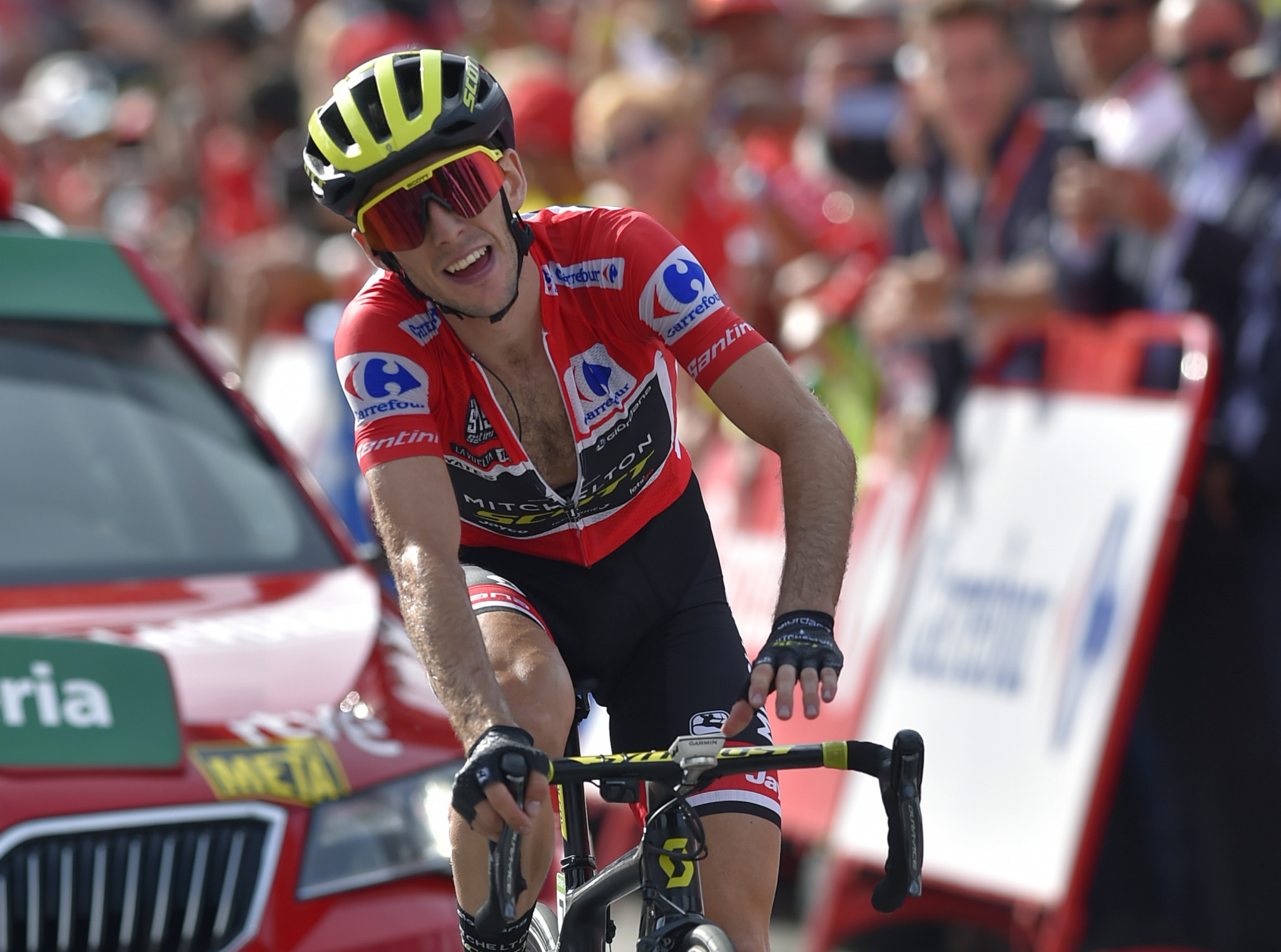 Simon Yates of Britain strengthened his overall lead at the Vuelta a España ©Getty Images