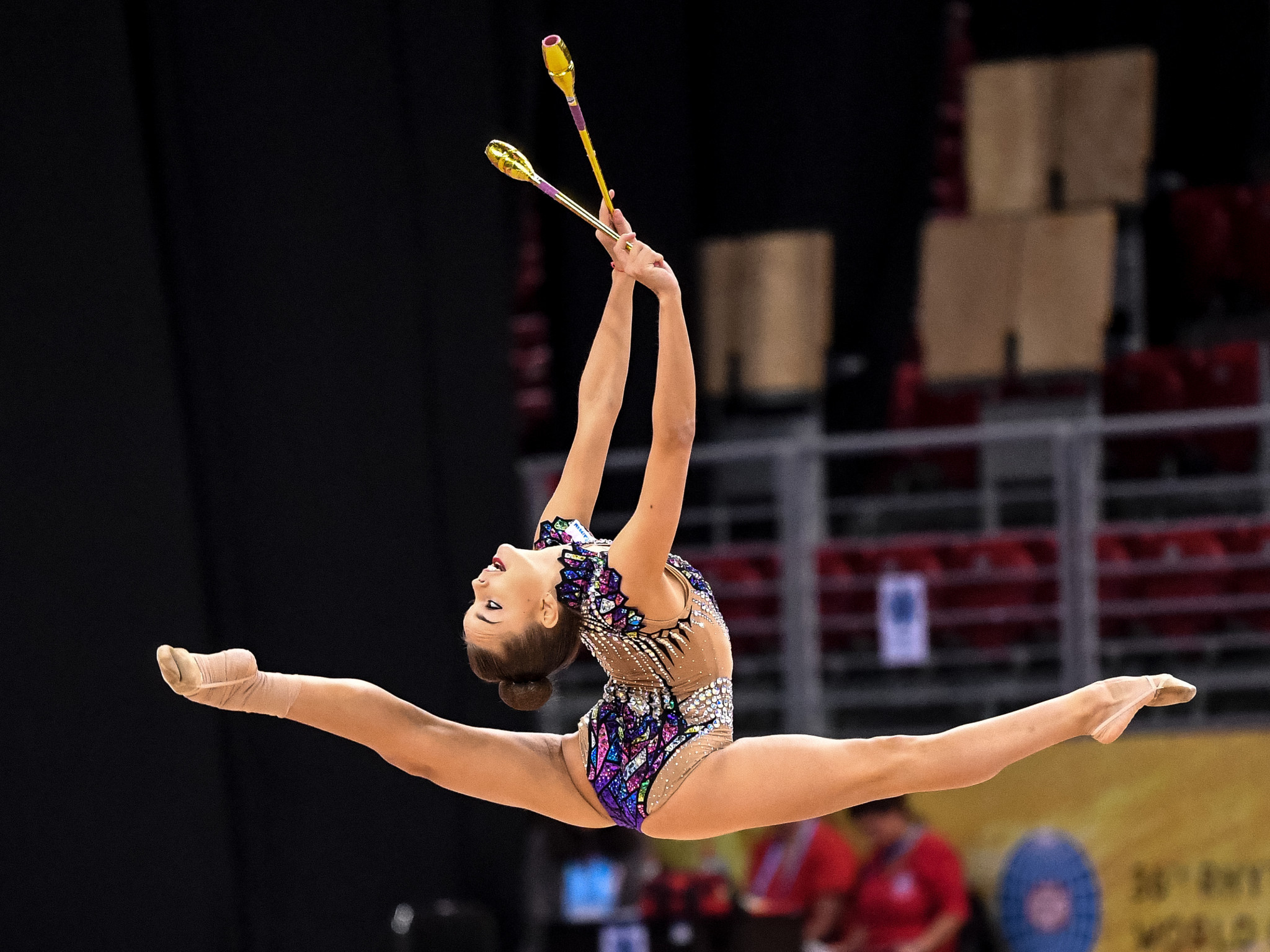 Russian star Dina Averina retained her all-around title as she produced another superb display ©Getty Images