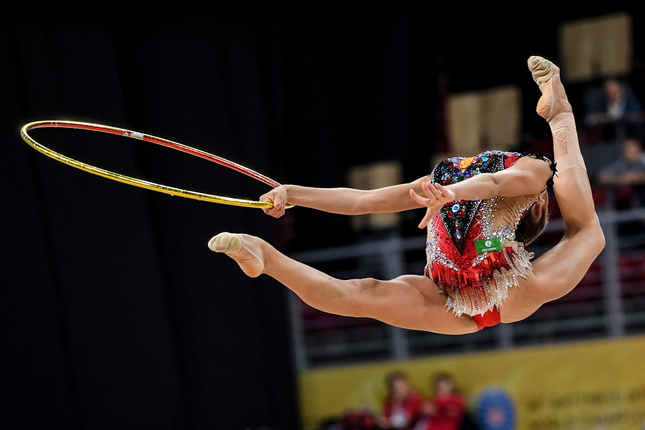 Russian Aleksandra Soldatova dazzled with the hoop, top-scoring in the discipline on her way to all-around bronze ©Getty Images