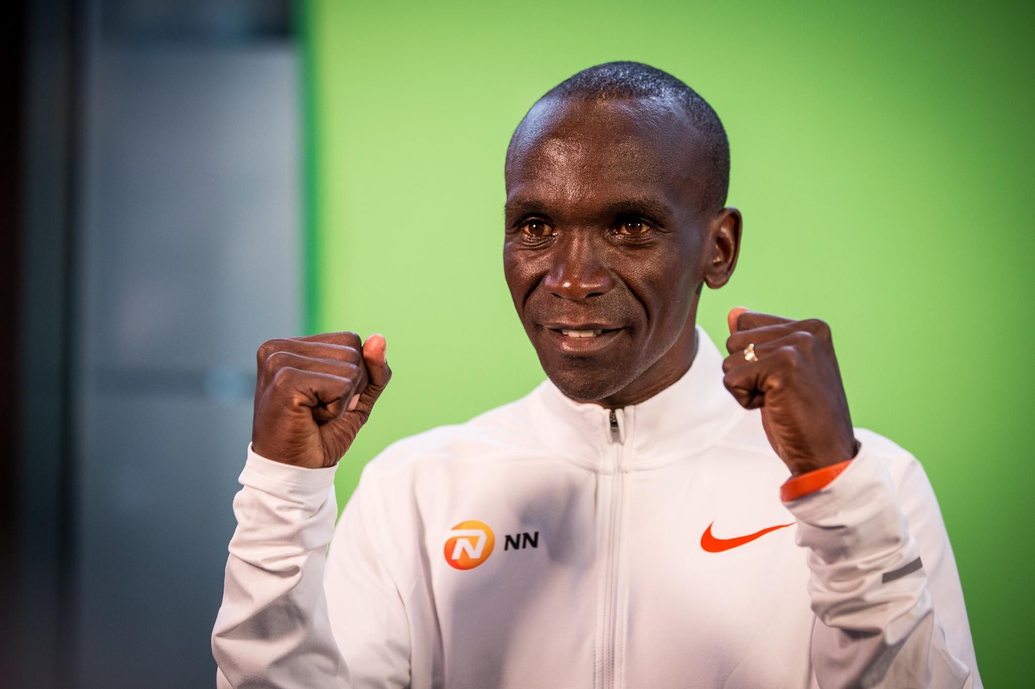 Kenya's Eliud Kipchoge could break the men's marathon world record in Berlin ©Getty Images