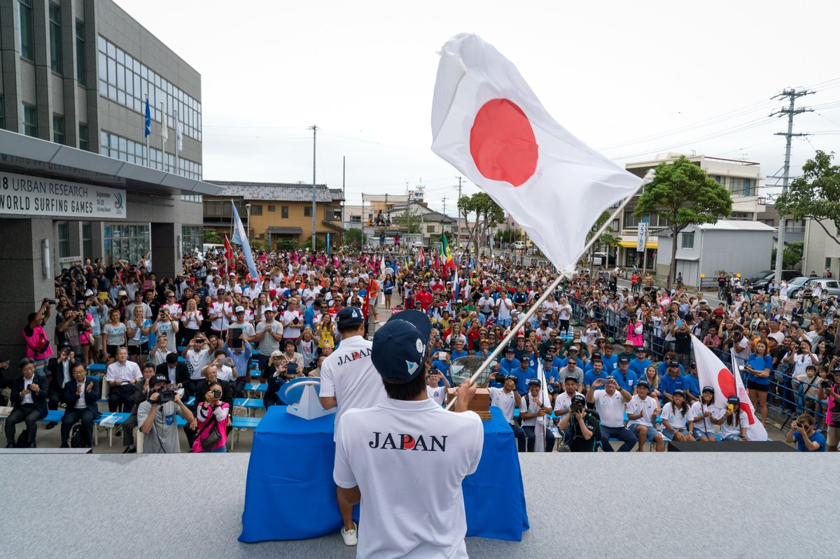 Forty-two countries were represented in the Parade of Nations at the Opening Ceremony ©ISA