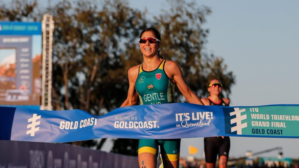 Australia's Ashleigh Gentle won the women's race on home soil ©ITU