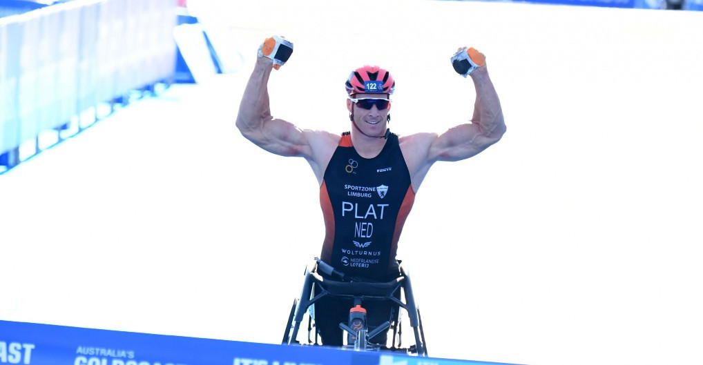 Paralympic champion Jetze Plat became the world champion in Gold Coast ©ITU