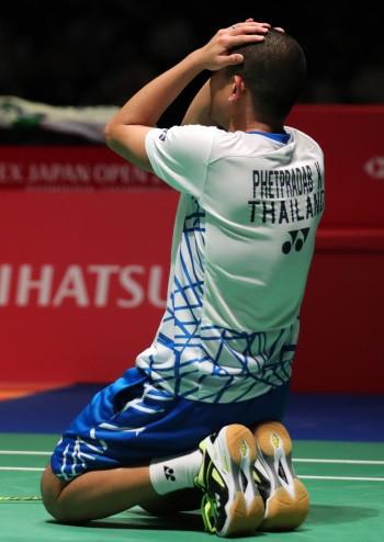 Phetpradab and Momota progress to men's singles final at BWF Japan Open