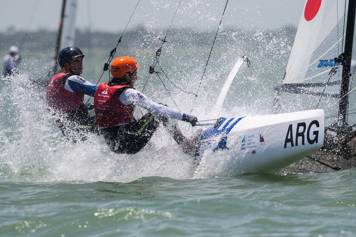 Dante Cittadini and Teresa Romairone won gold at the Youth World Championships earlier this year ©World Sailing