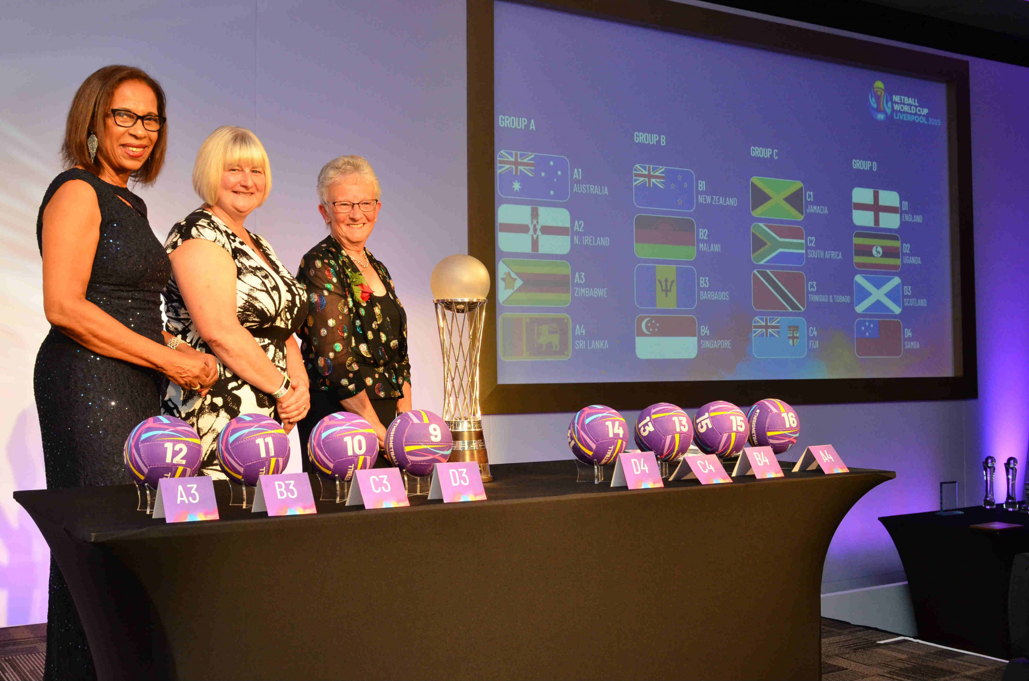 INF President Molly Rhone was among those in attendance at the Netball World Cup draw ©Netball World Cup