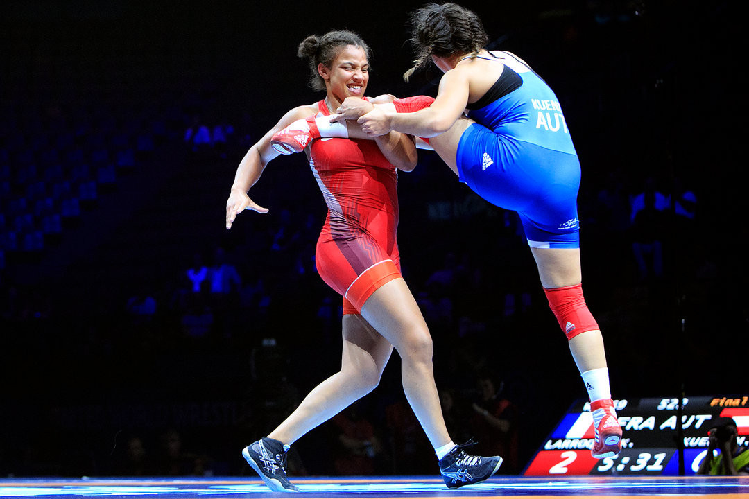 Koumba Larroque from France will look to win the women's 72kg gold ©UWW