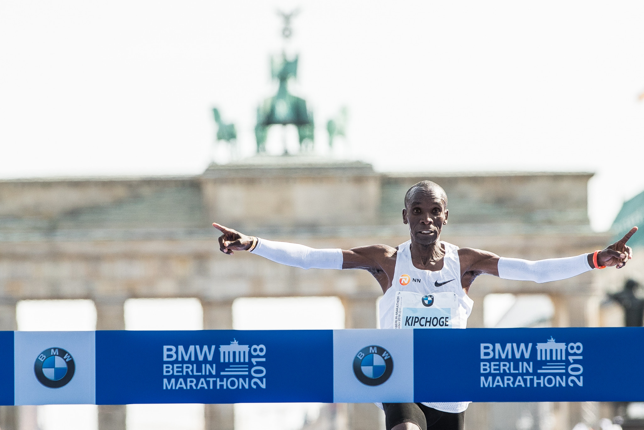 Eliud Kipchoge broke the marathon world record  at IAAF Gold Label road race in Berlin last month ©Getty Images