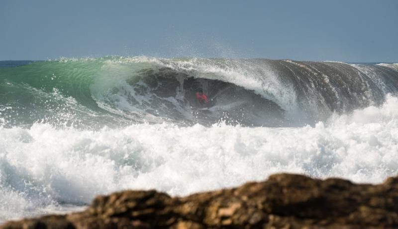 Action at the World Surfing Games began in Tahara today ©ISA