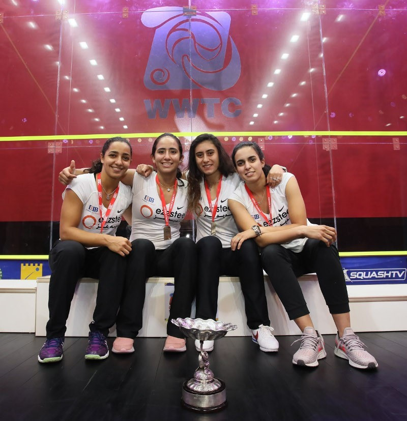 Egypt retain Women's World Team Squash Championships title with victory over England