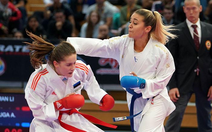 Anzhelika Terliuga took gold in the women's under-55kg class ©WKF