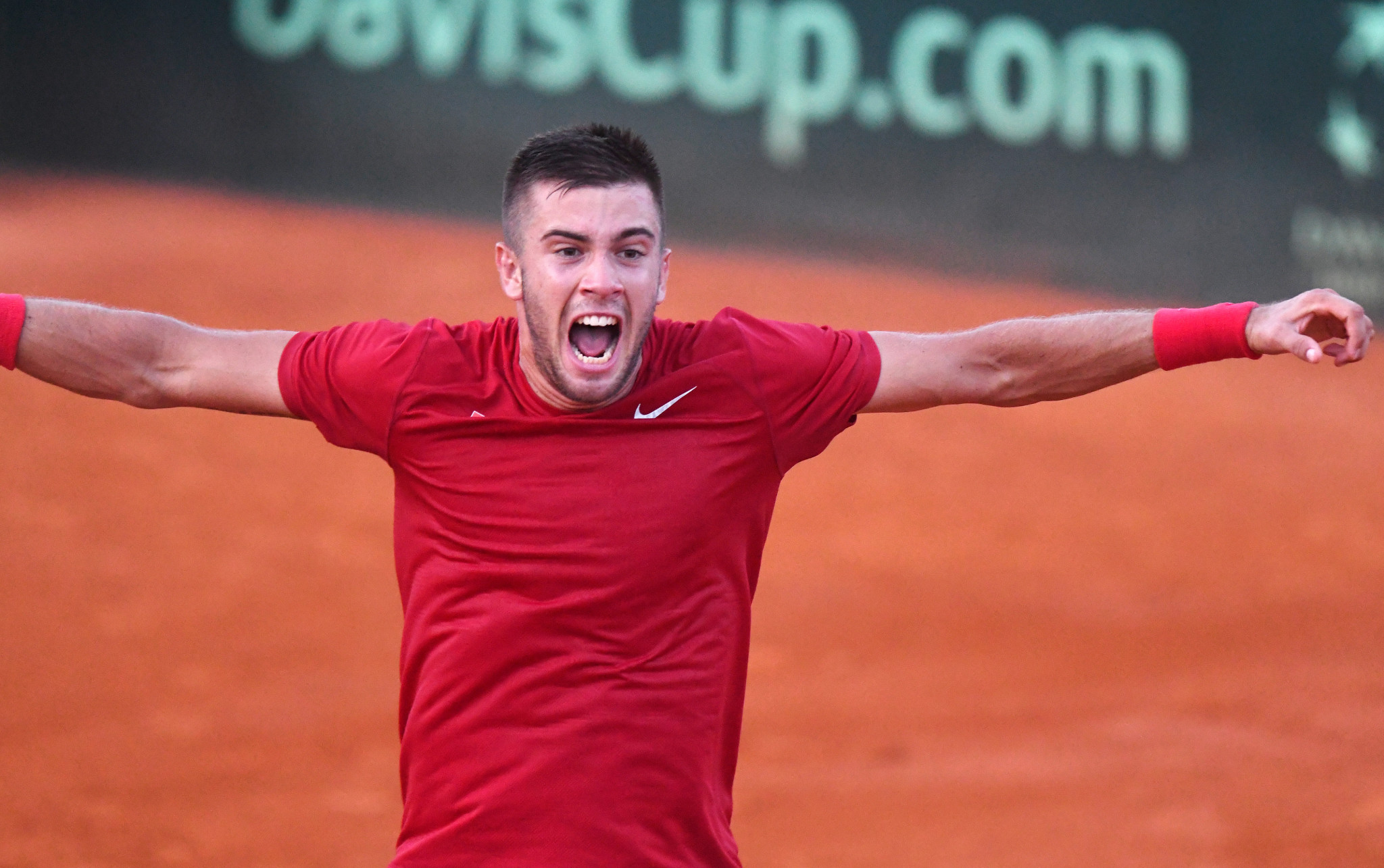 Borna Coric secured Croatia's place in the Davis Cup final after he overcame American opponent Frances Tiafoe ©Getty Images