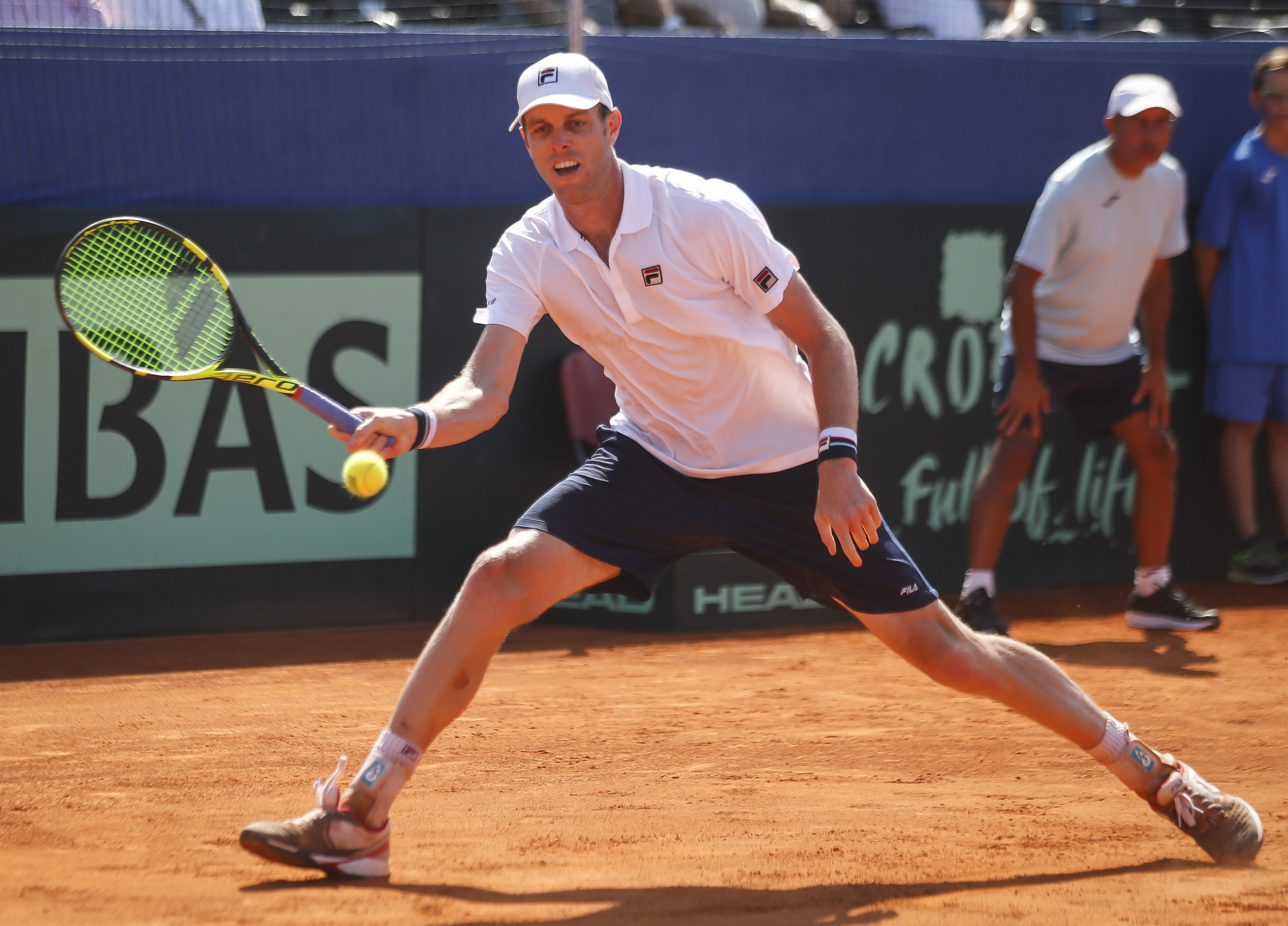 Sam Querrey sent the semi-final into a decider after beating Marin Cilic in the opening singles rubber today ©Getty Images