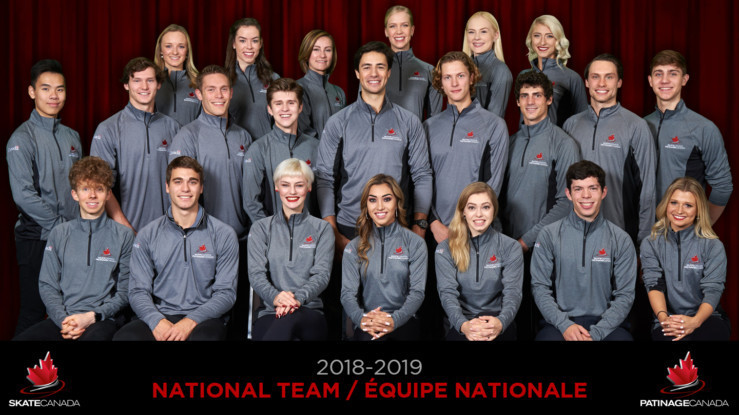Skate Canada have announced a team of 23 athletes for the upcoming season ©Skate Canada