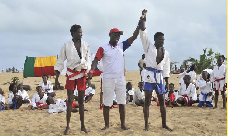 Beach sambo tournament held in Benin to showcase sport