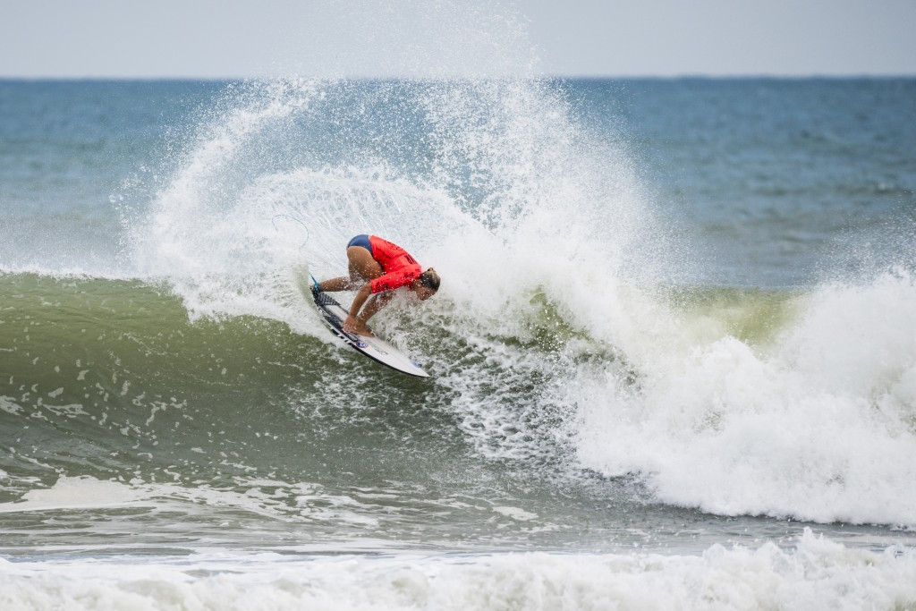 Paige Hareb earned the highest heat score today in the women's competition ©ISA