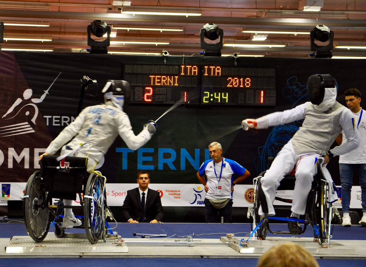 Ukraine;s Andrii Demchuk is the defending IWAS Wheelchair Fencing European champion in the sabre A category and also has a Paralympic gold medal, but is yet to win a World Cup event this year ©IWAS Fencing