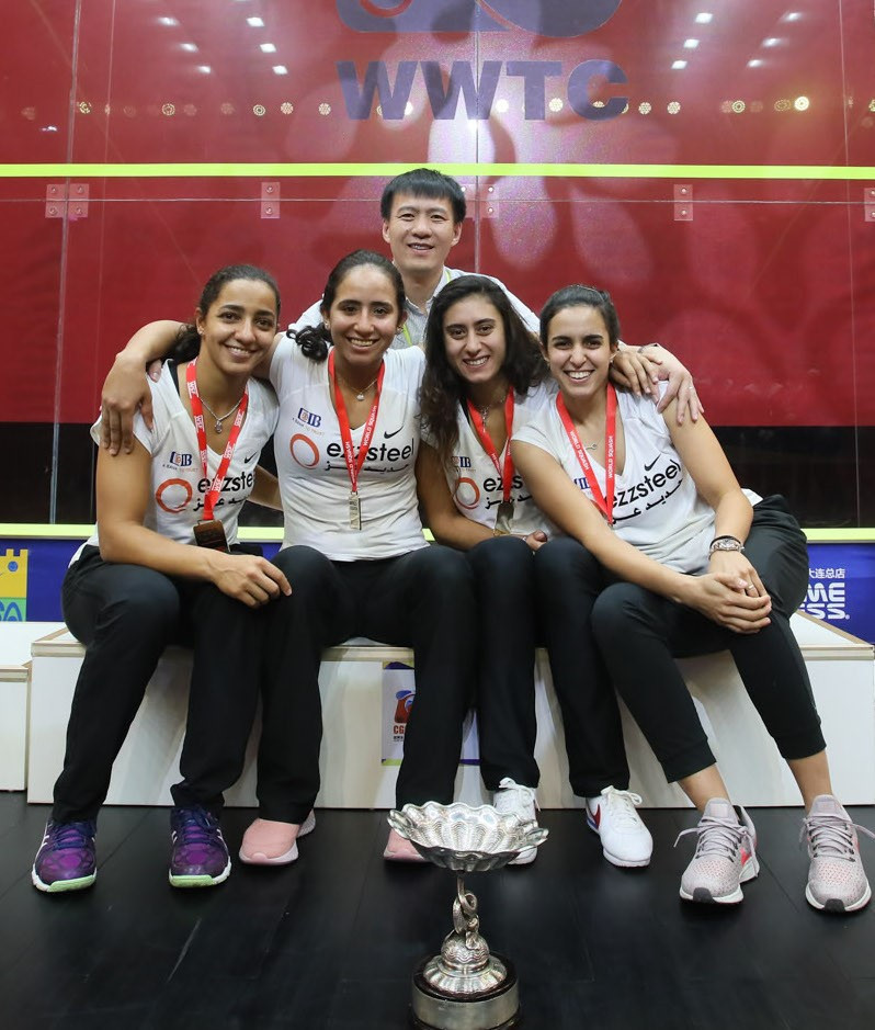 The powerful squad from Egypt retained their Women's World Team Championships in Dalian ©WSF