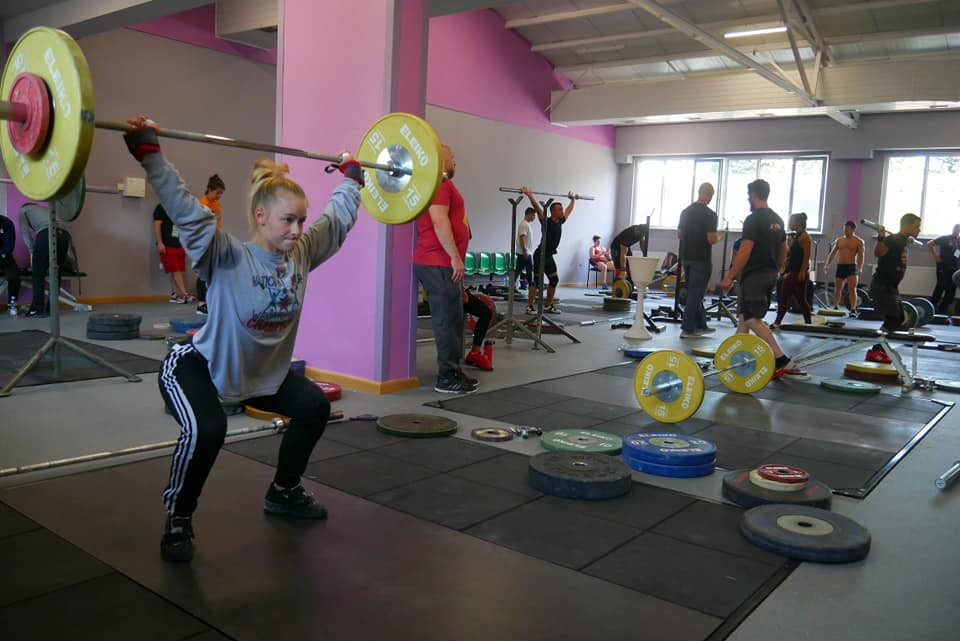 Some of the 140 competitor from 27 countries practicing for the FISU World University Weightlifting Championships in Biala Podlaska in Poland ©World University Weightlifting Championship