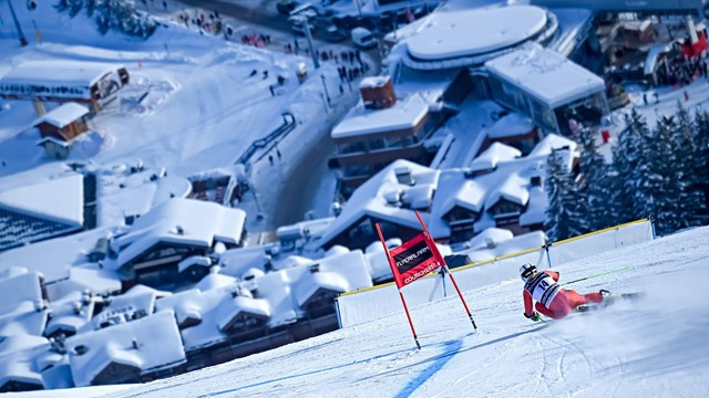 How the women's giant slalom course might look at he Alpine World Ski Championships in 2023, which will be held at the French resorts of Courchevel and Meribel ©Getty Images